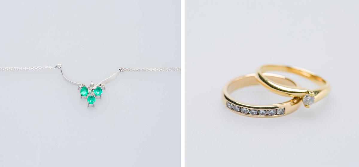 6807474c1c04 Gargantilla con tres esmeraldas y tres diamantes