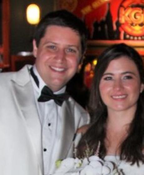 Los recién casados, Juan Manuel Seco Bordolli y Ángela Ramírez Caballero.